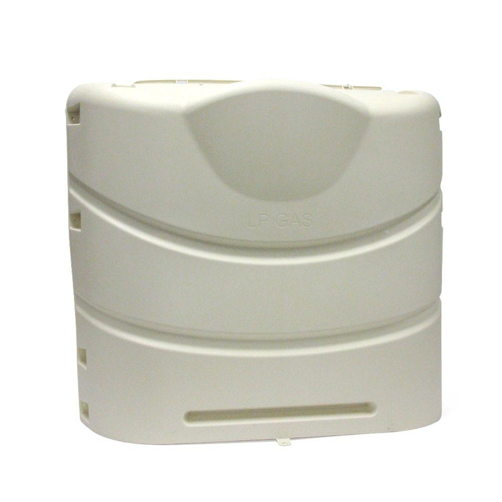 Colonial White Propane Tank Cover