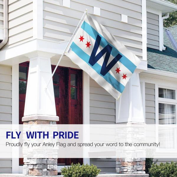 Chicago Cubs W Win Home and House Flag