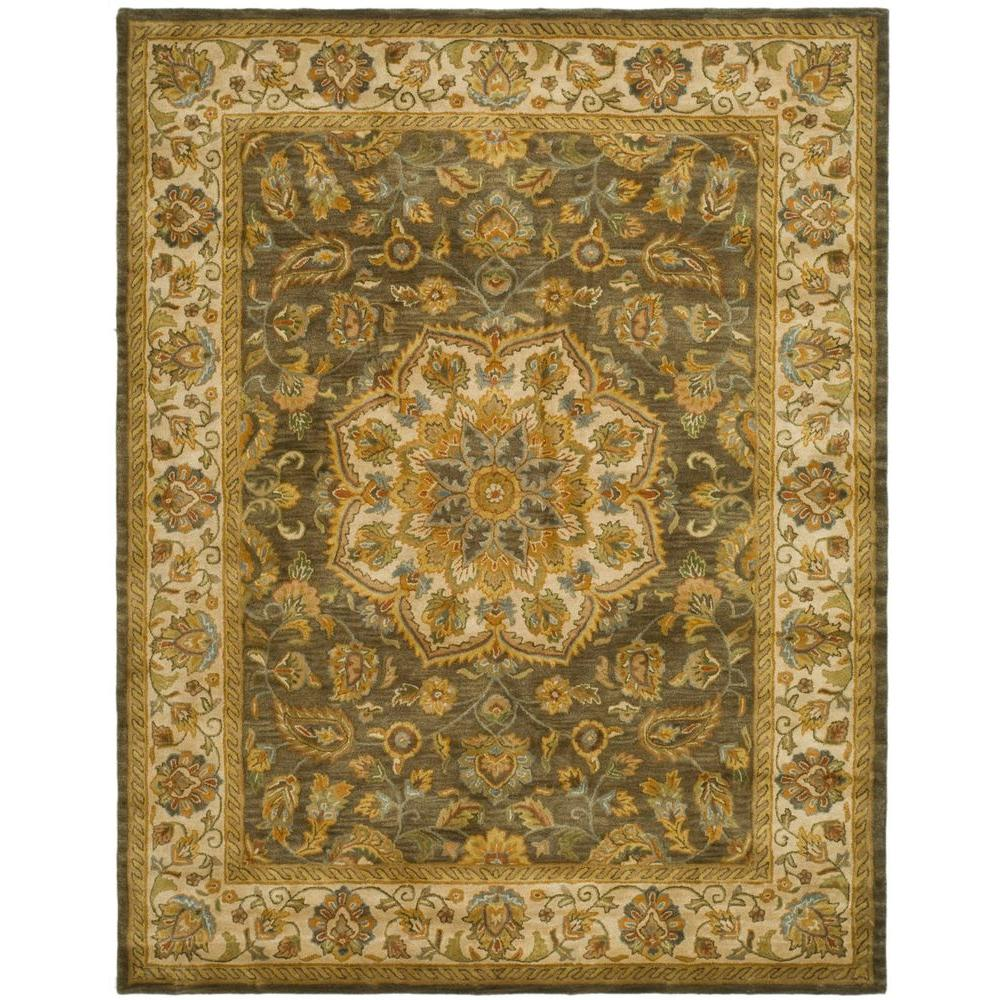 Heritage Green/Taupe 8 ft. 3 in. x 11 ft. Area Rug
