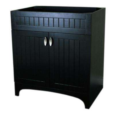 Portola 31 in. Bath Vanity Cabinet Only in Espresso without Vanity Top