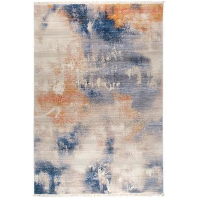 Rutherford Distressed Beige 3 ft. x 5 ft. Indoor Area Rug