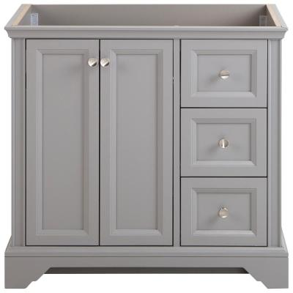 Stratfield 36 in. W x 22 in. D x 34 in. H Bath Vanity Cabinet Only in Sterling Gray