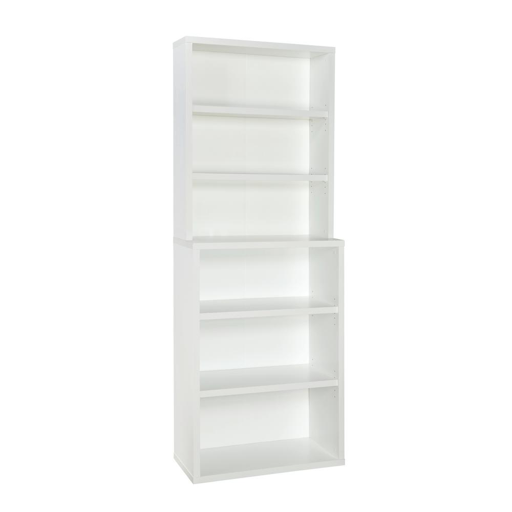 premium selection 17ff3 4e114 ClosetMaid 82 in. x 30 in. White Decorative 6-Shelf Hutch Unit