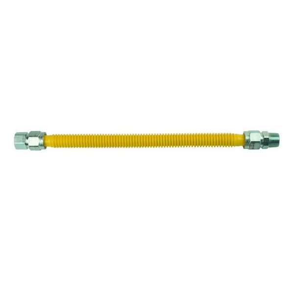 ProCoat 3/4 in. FIP x 3/4 in. MIP x 18 in. Stainless Steel Gas Connector 3/4 in. I.D. (290,900 BTU)