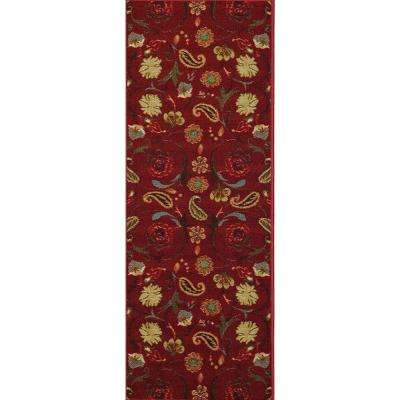 Hamam Collection Red 2 ft. x 7 ft. Runner Rug