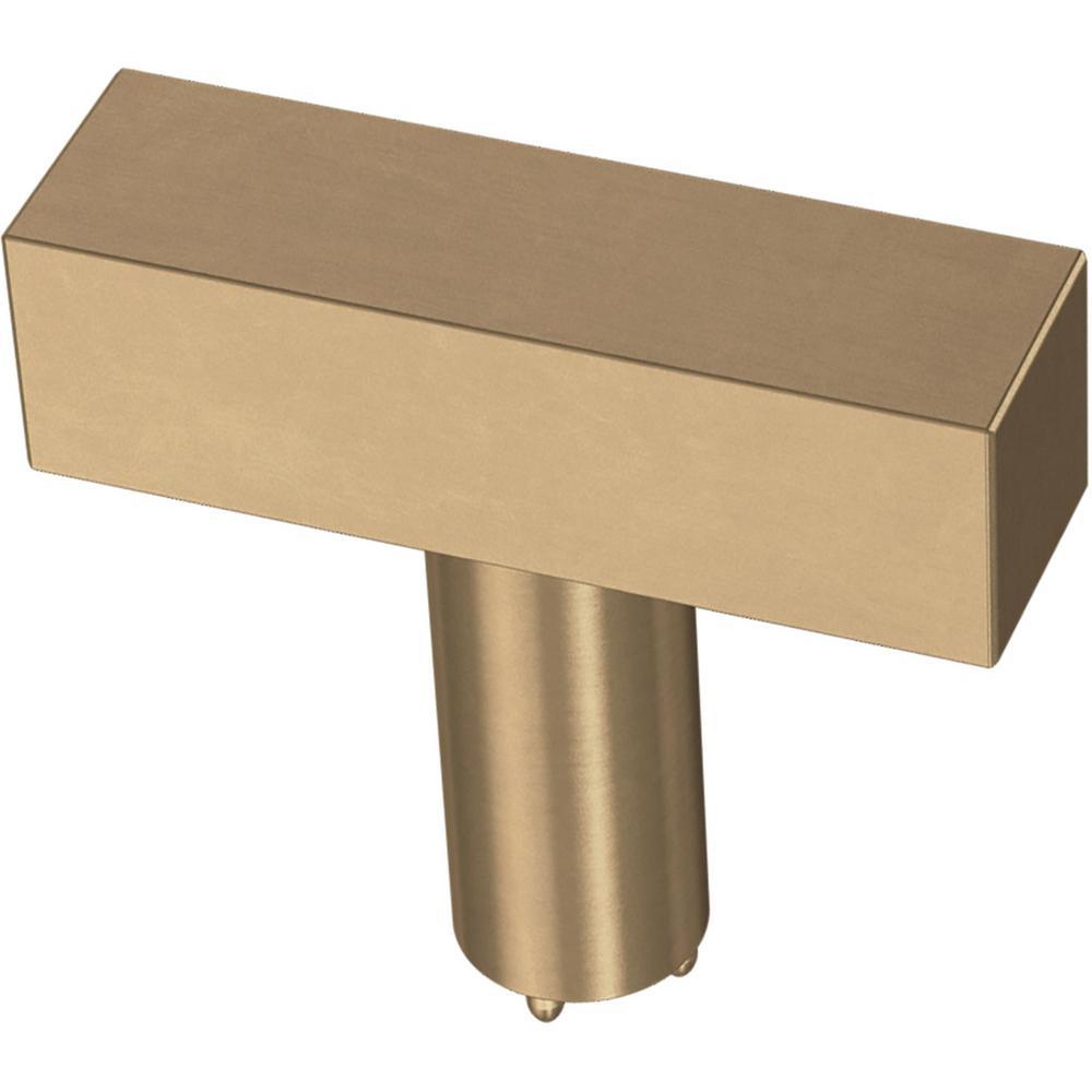Square Bar 1-1/2 in. (32 mm) Champagne Bronze Cabinet Knob