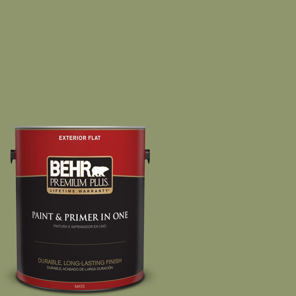 BEHR Premium Plus 1-gal. #410F-5 Boston Fern Flat Exterior Paint