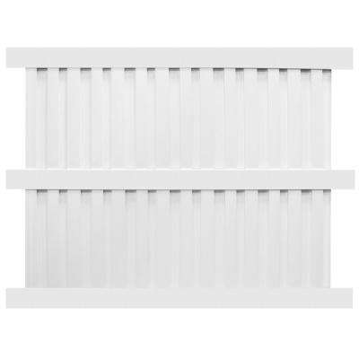 Largo 6 ft. x 8 ft. White Vinyl Privacy Fence Panel Kit