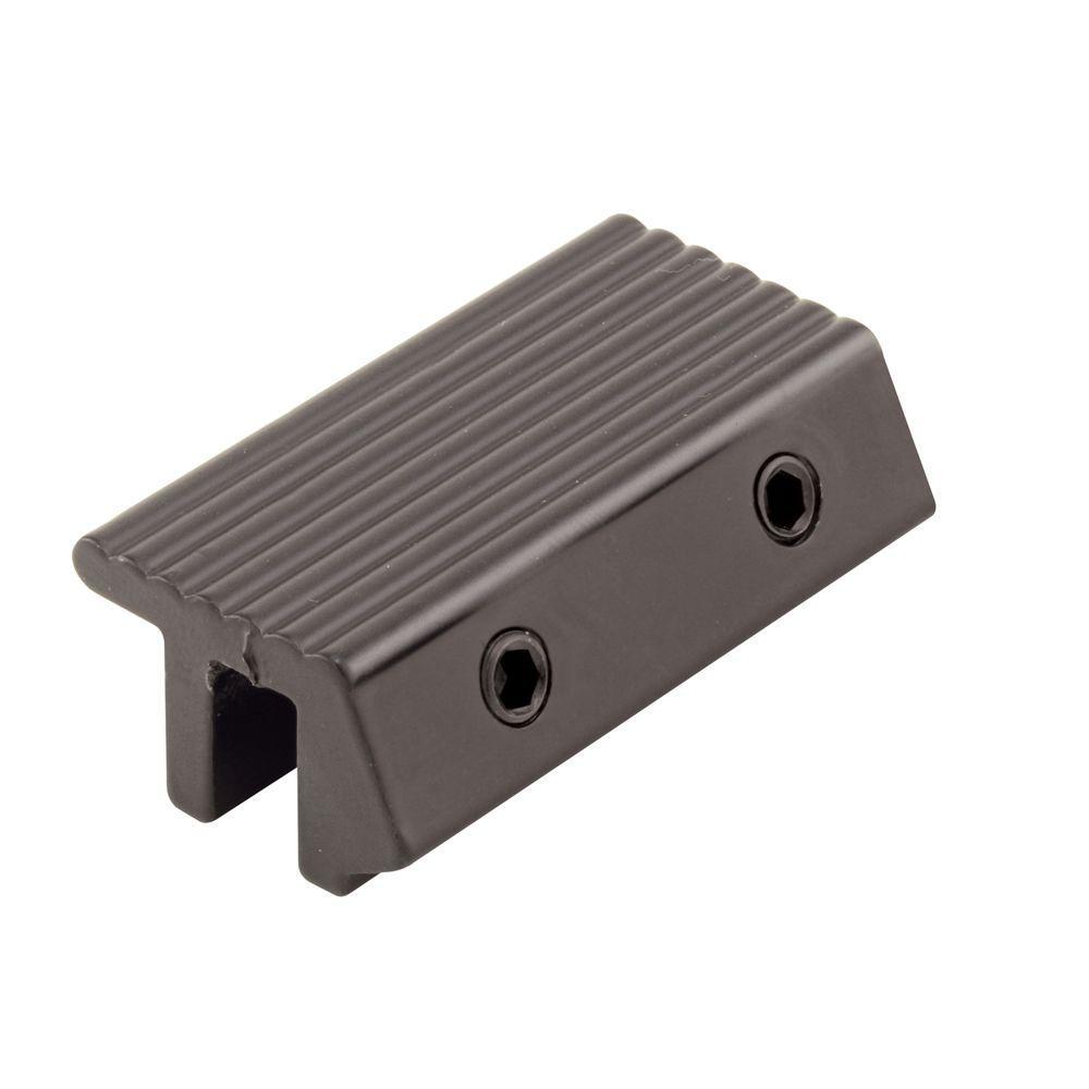 Prime-Line Sliding Door Channel Lock, Tamperproof, Black Finish