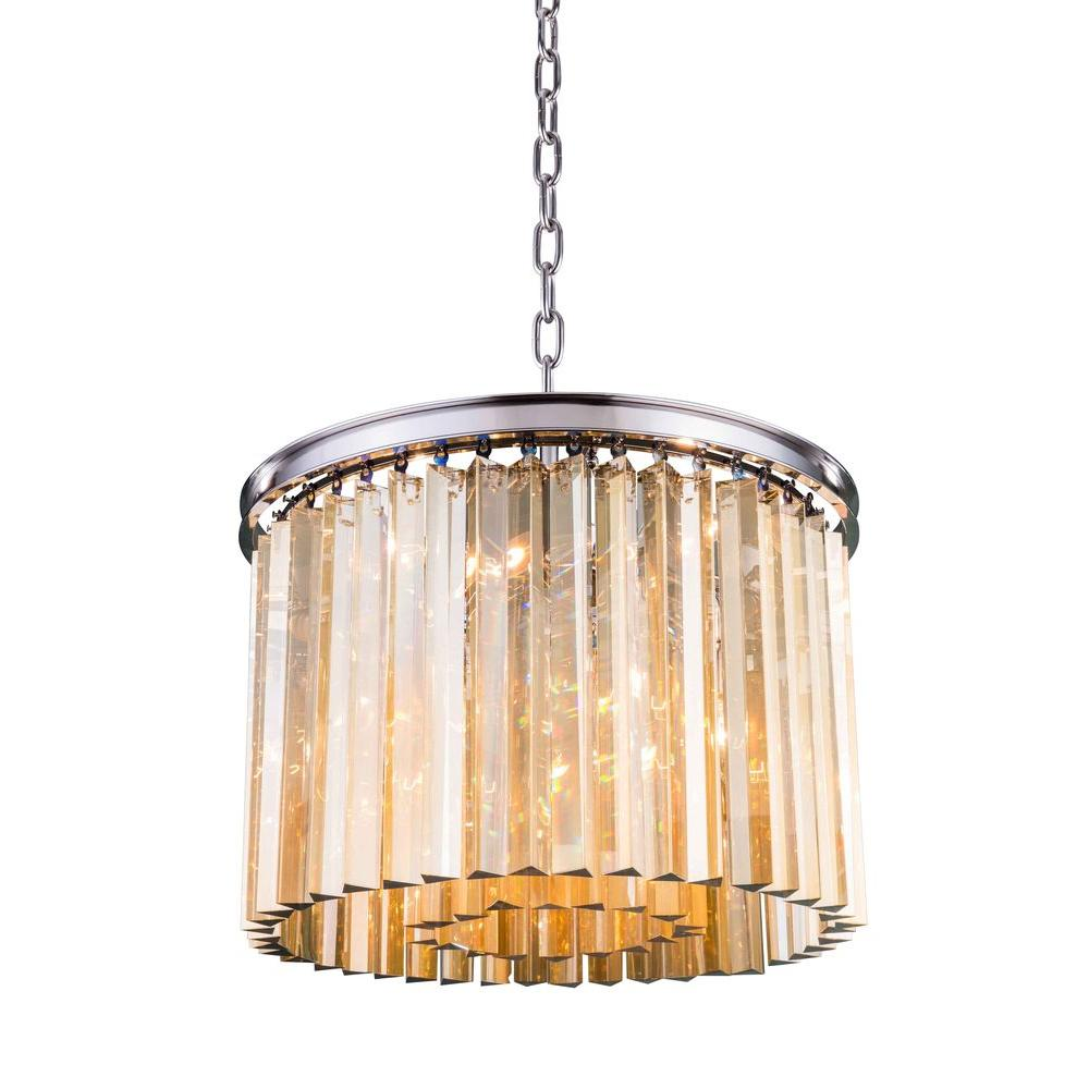 Elegant Lighting Sydney 6-Light Polished Nickel Chandelier