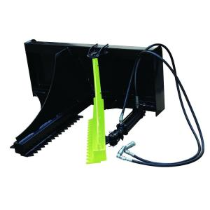BrushGrubber 44 inch Hydraulic Post/Tree Puller for Skid Loader or Tractor by BrushGrubber