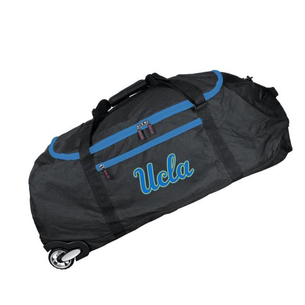 Denco NCAA UCLA 36 in. Checked-In Rolling Duffel in Black CLCAL801