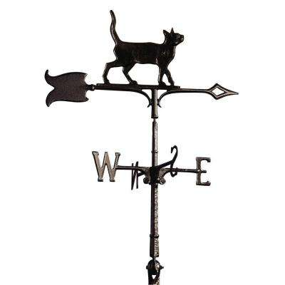 30 in. Black Standing Tiger Cat Weathervane