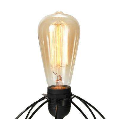 6 in. H ST64 Edison Bulbs (4-Pack)