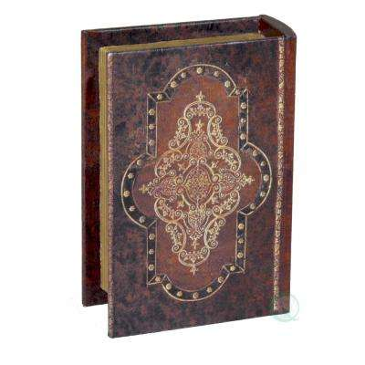6.5 in. W x 1.8 in. D x 4.5 in. H Antique Style Small Book Box