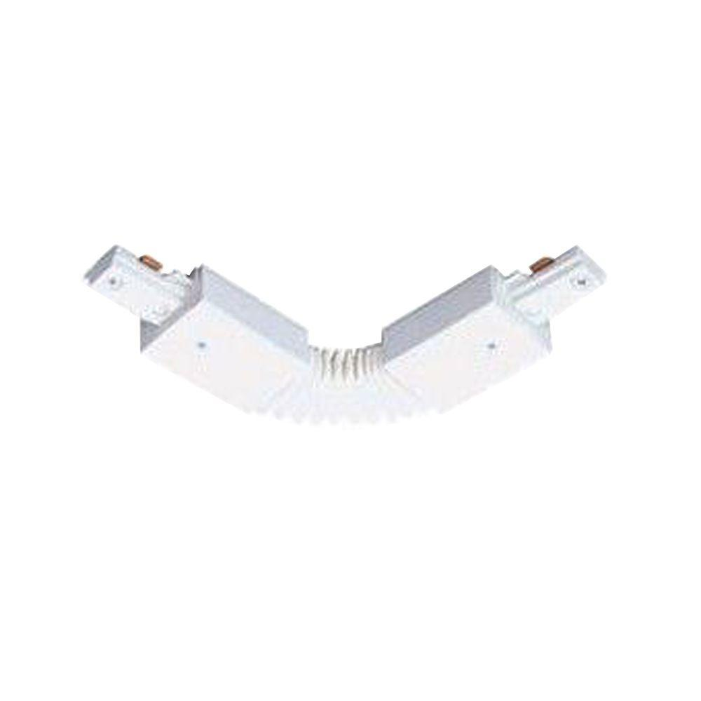 Juno Trac-Lites White Flexible Adjustable Connector
