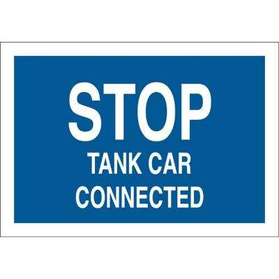 12 in. H x 15 in. W Traffic Sign Stop Tank Car Connected