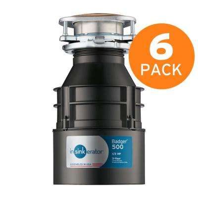 Badger 500 1/2 HP Continuous Feed Garbage Disposal (6-Pack)
