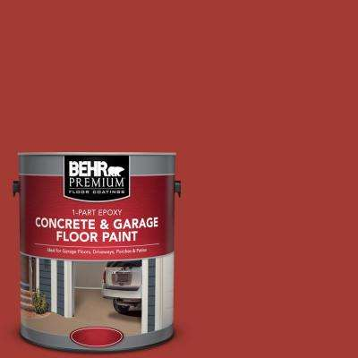 1 gal. #PFC-03 Red Baron 1-Part Epoxy Satin Interior/Exterior Concrete and Garage Floor Paint