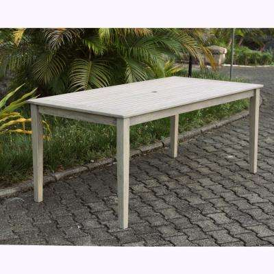 Tulle Rectangular Wood Outdoor Dining Table