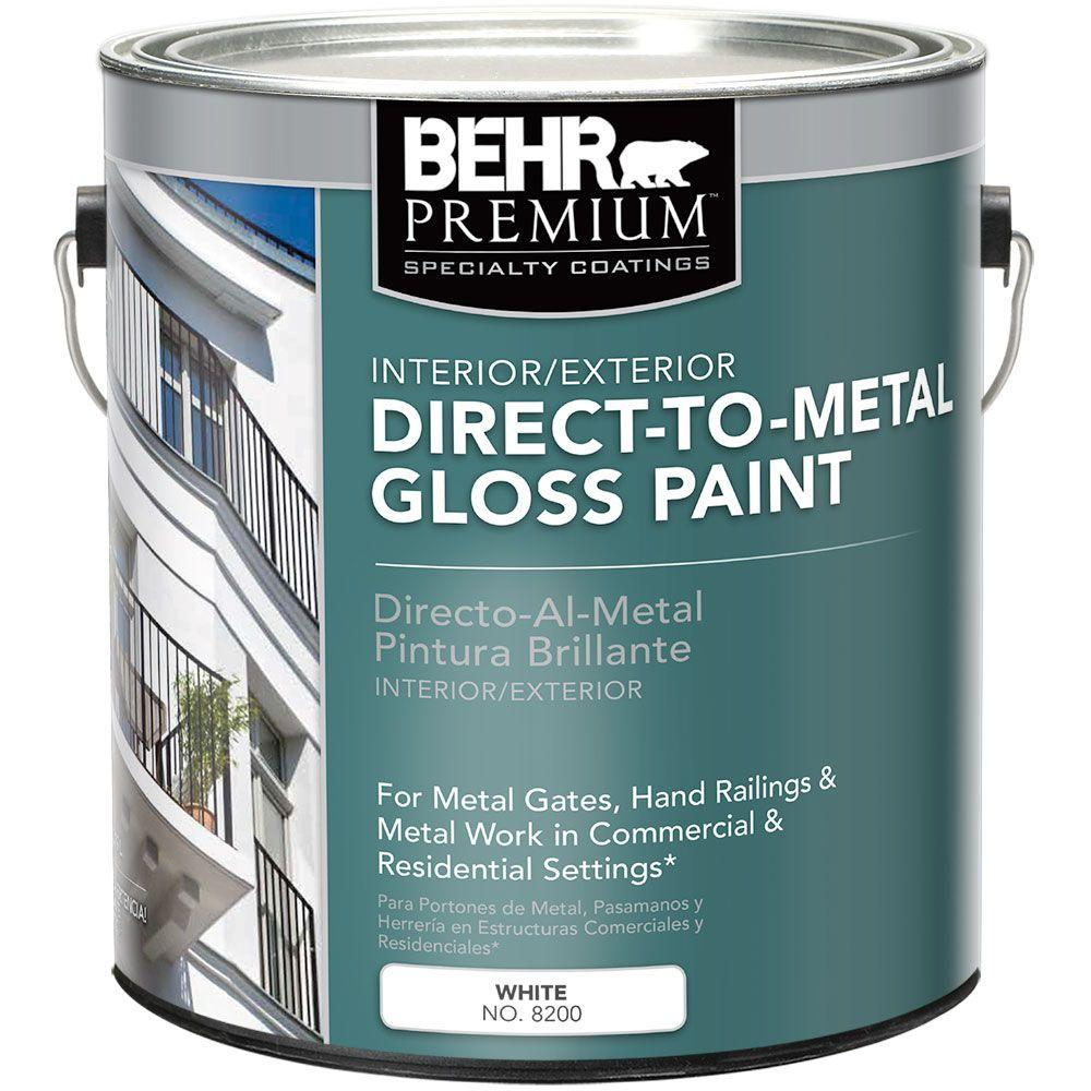 White Gloss Direct To Metal Interior Exterior Paint