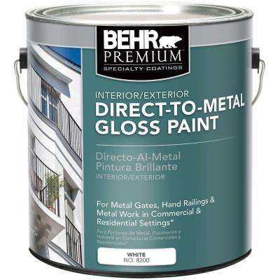 1 gal. White Gloss Direct to Metal Interior/Exterior Paint