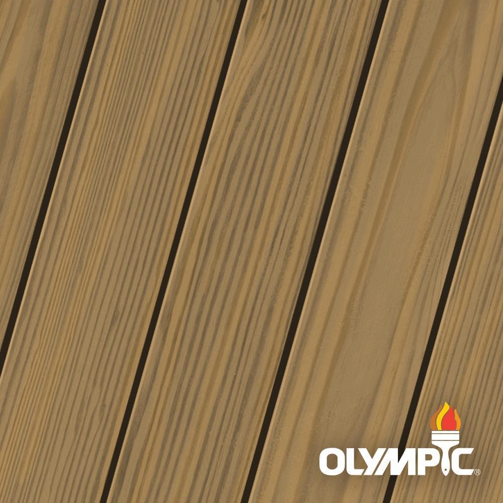 Olympic Elite 8-oz. EST726 Light Mocha Semi-Transparent Exterior Stain and Sealant in One Low VOC
