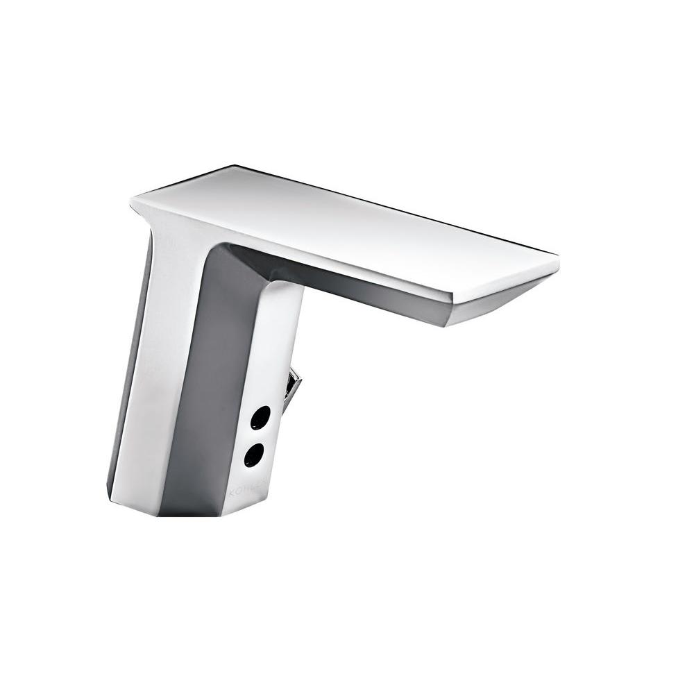 commercial bathroom faucets. KOHLER Geometric Commercial Battery-Powered Single Hole Touchless Bathroom Faucet In Polished Chrome Faucets H