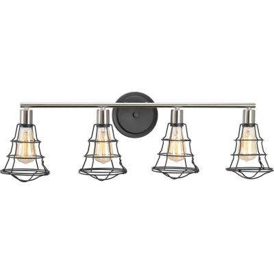 Gauge Collection 4-Light Graphite Vanity Light