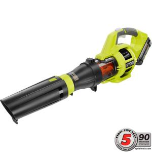 Ryobi 110 MPH 480 CFM Variable-Speed 40-Volt Lithium-Ion Cordless Jet Fan Leaf Blower - 3.0 Ah Battery and Charger... by Ryobi