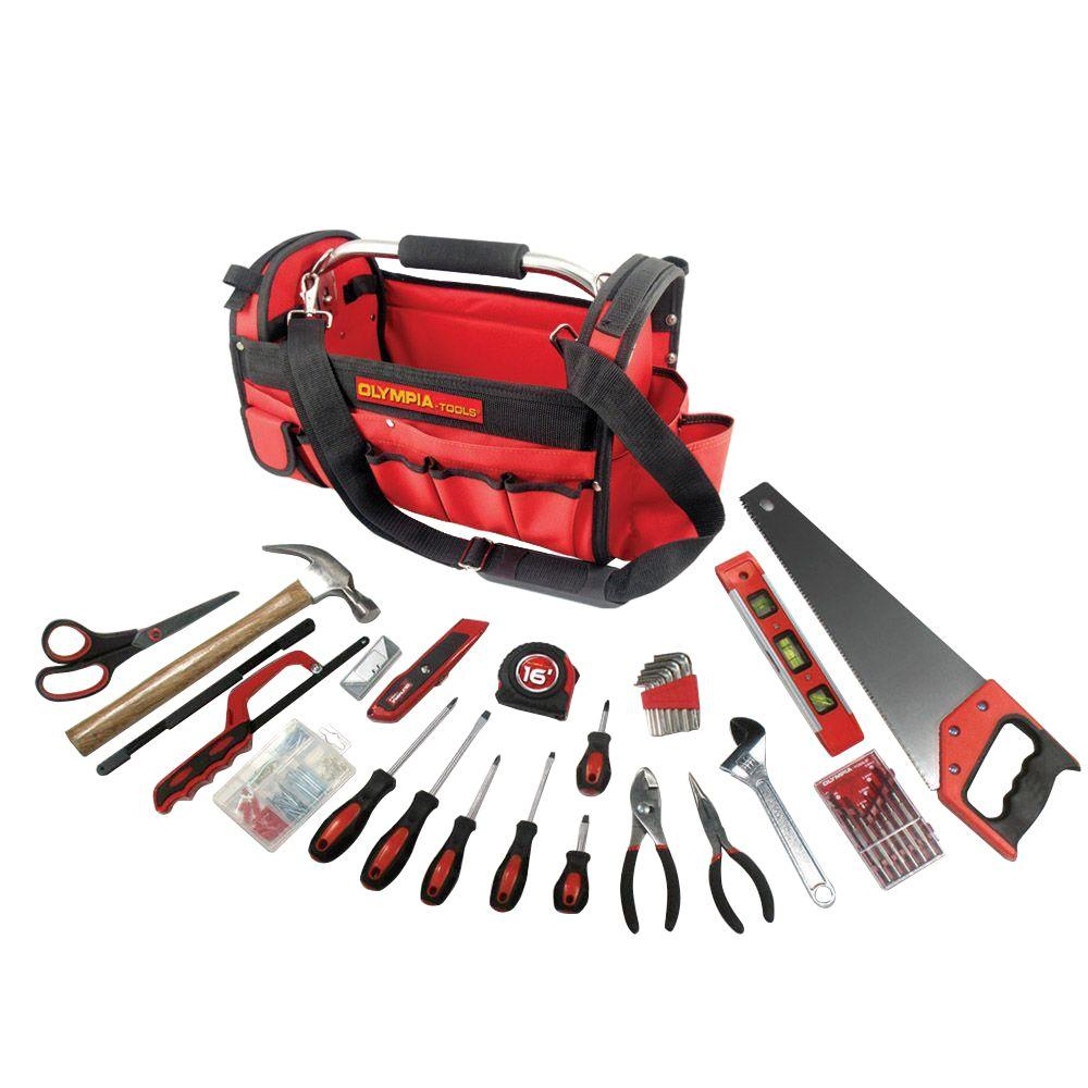 Olympia Multi Purpose Tool Set With Bag Red 52 Piece