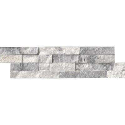 Alaska Gray Ledger Panel 6 in. x 24 in. Natural Marble Wall Tile (1 sq. ft.)