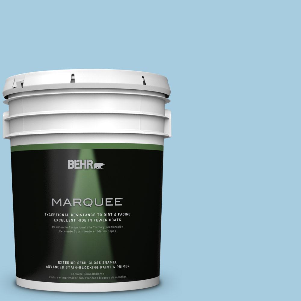 5-gal. #M490-2 Carefree Sky Semi-Gloss Enamel Exterior Paint