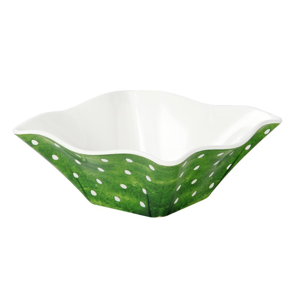 Pallini 3 in. 4-Piece Sage Green Chip/Dip Bowl Set