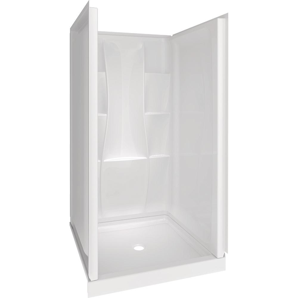 Delta Classic 400 36 in. x 36 in. x 72 in. Shower Kit in White ...