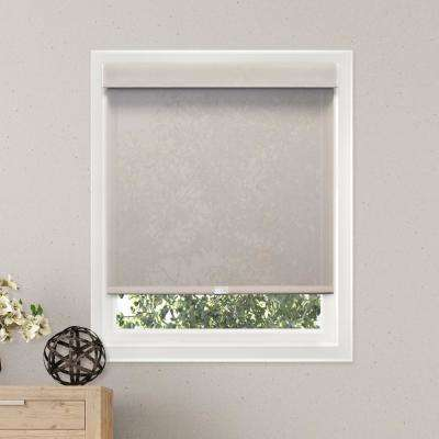 27 in. W x  72 in. L Sailcloth Pearl  Light Filtering Horizontal Roller Shade