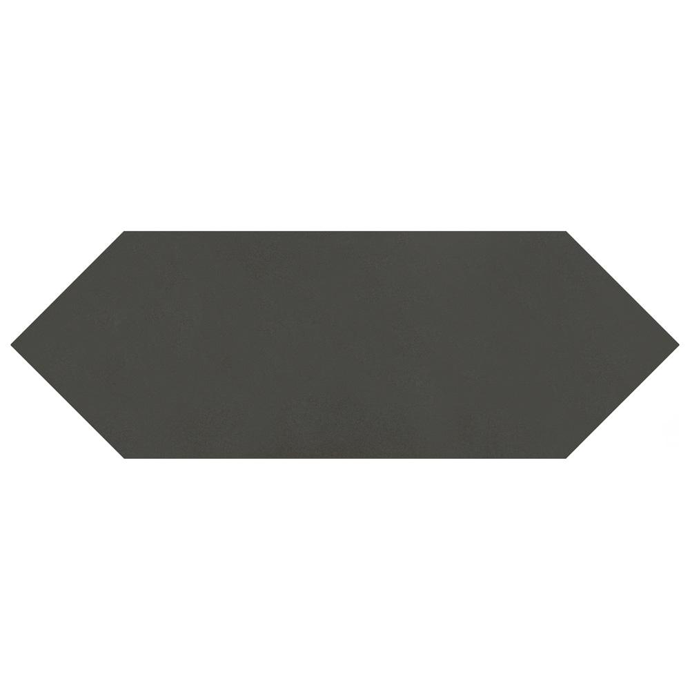 MerolaTile Merola Tile Kite Black 4 in. x 11-3/4 in. Porcelain Floor and Wall Subway Tile (11.81 sq. ft. / case), Black / Medium Sheen