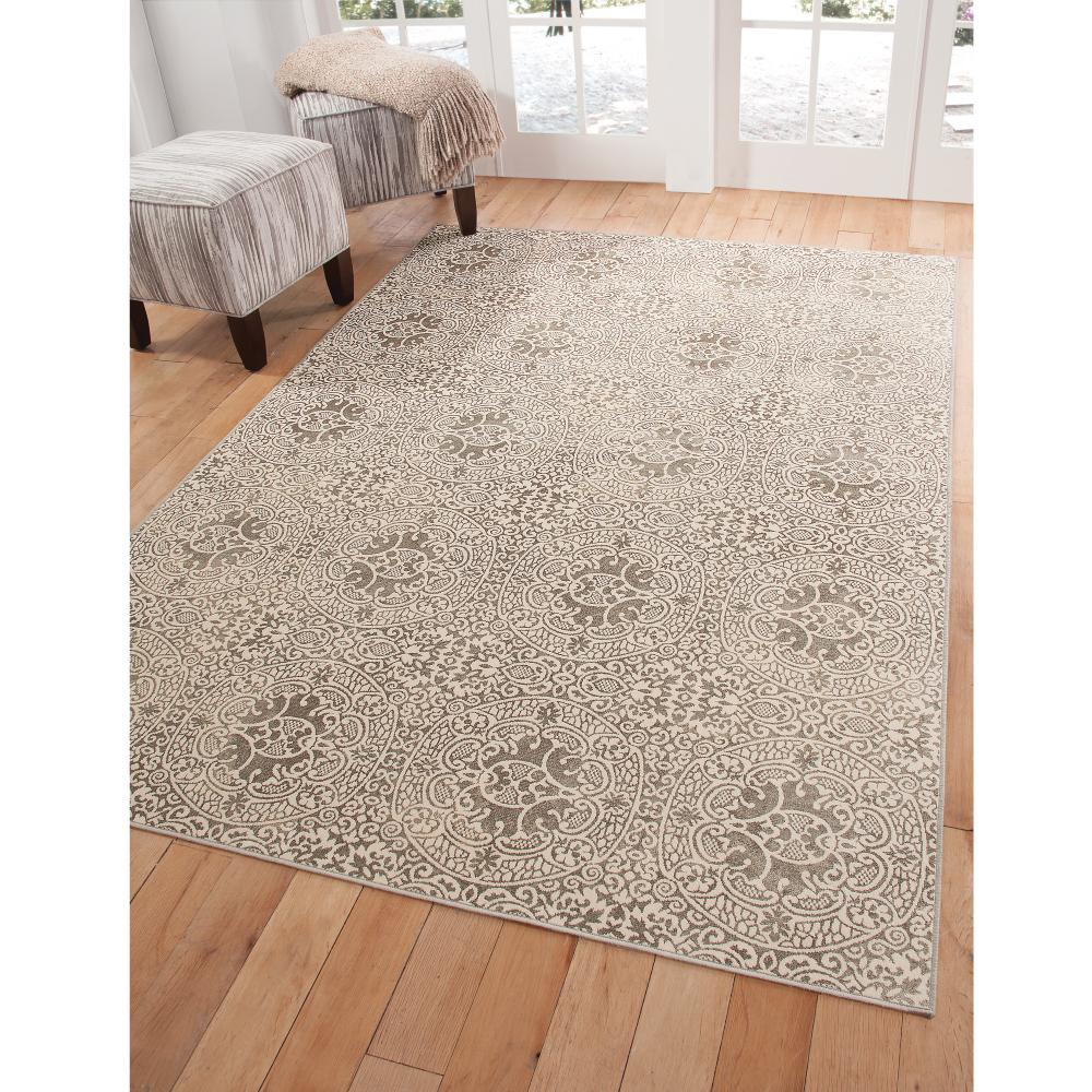 Sonoma Aster Silver Ivory 7 ft. 10 in. x 11 ft.