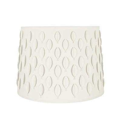 16 in. x 12 in. Off White and Leaf Pattern Empire Lamp Shade