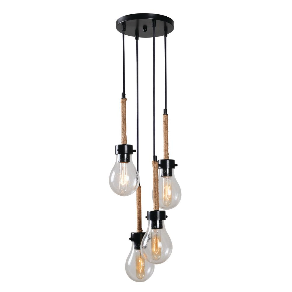 Kenroy Home Keepsake 4 Light Bronze Chandelier With Seeded Glass Cleaning And Rewiring Chandeliers Shade