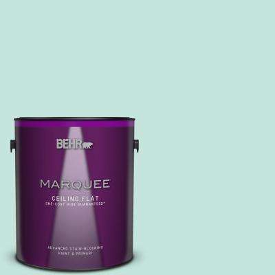 1 gal. #MQ3-19 Misty Isle One-Coat Hide Ceiling Flat Interior Paint and Primer in One