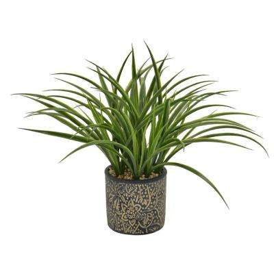 15 in. Faux Grass in Flower Pot