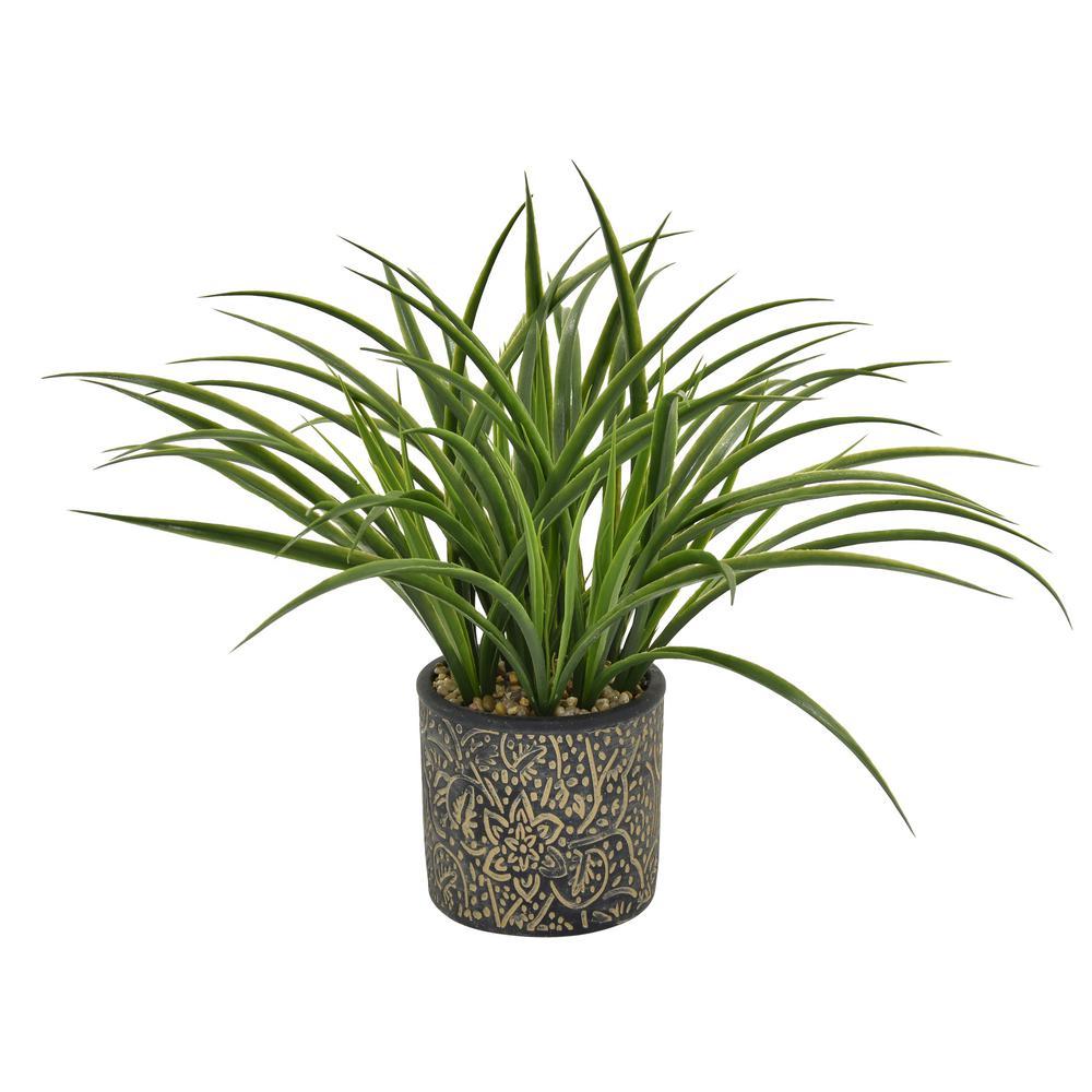 15 in. Faux Grass in Flower Pot