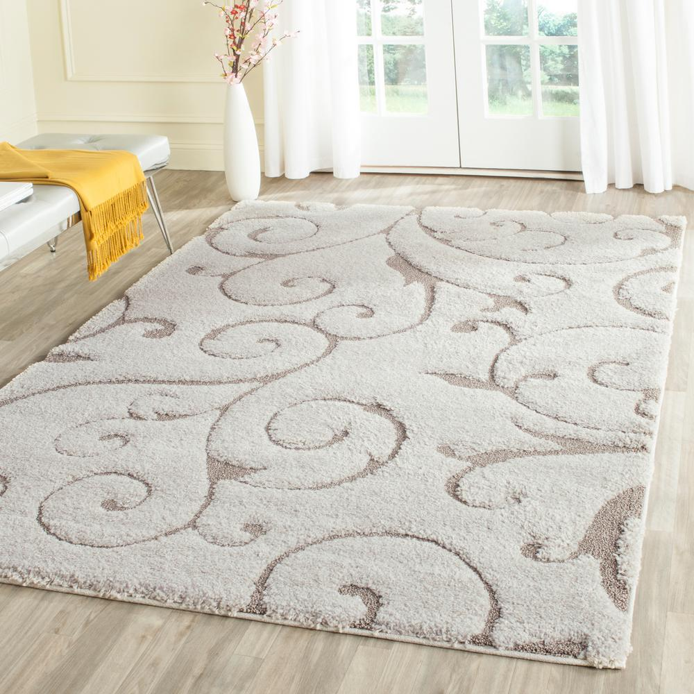 Safavieh Florida Shag Cream/Beige 6 ft. x 9 ft. Area Rug