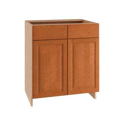 Ancona Ready to Assemble 36 x 34.5 x 24 in. Base Cabinet with 2 Soft Close Doors and 1 Soft Close Drawer in Cumin