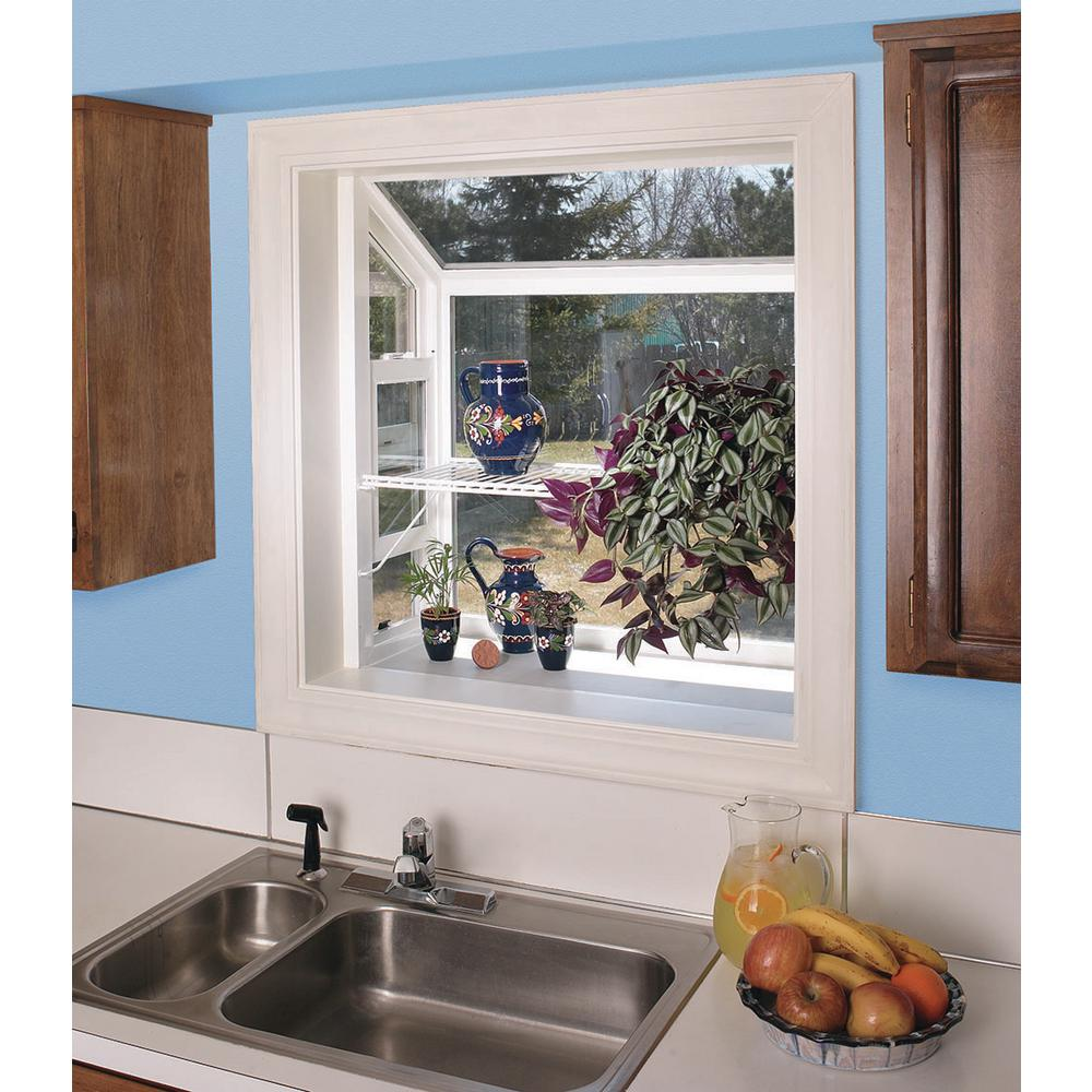 Jeld Wen 35 75 In X 35 75 In V 2500 Series White Vinyl Garden Window With Fiberglass Mesh Screen 8b8700 The Home Depot,What Color Goes Good With Purple And Yellow