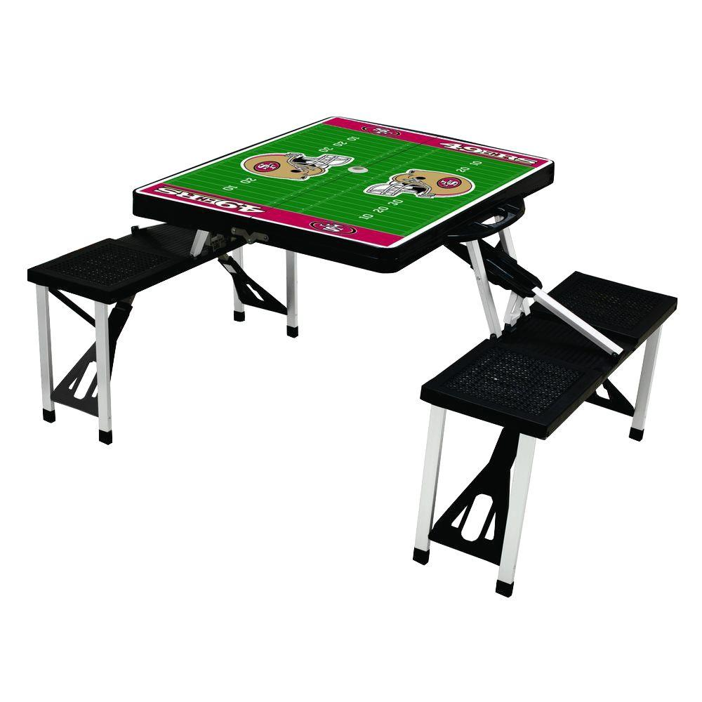 Picnic Time San Francisco 49ers Sport Patio Picnic Table
