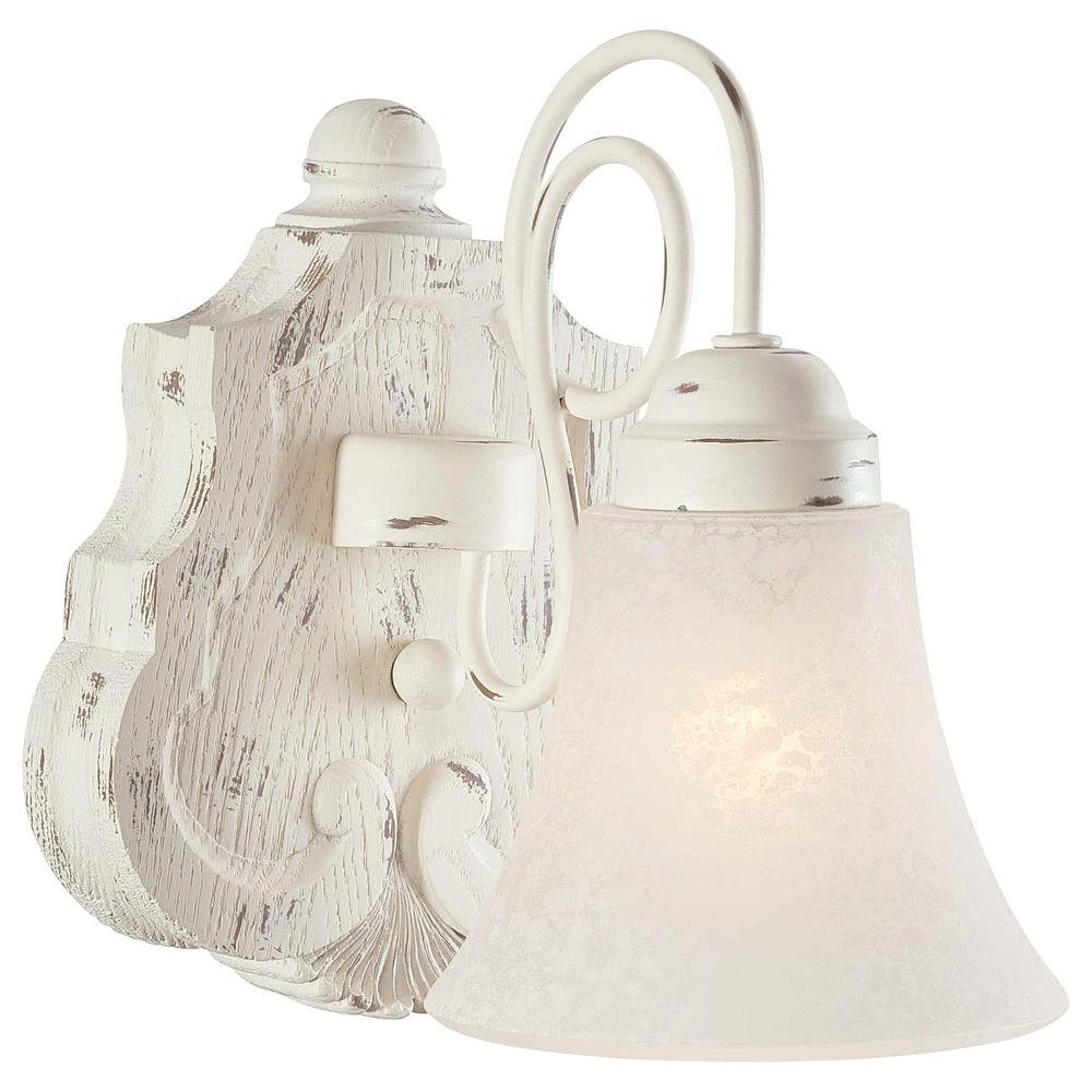 Minka Lavery Accents Provence 1-Light Provencal Blanc Bath Light