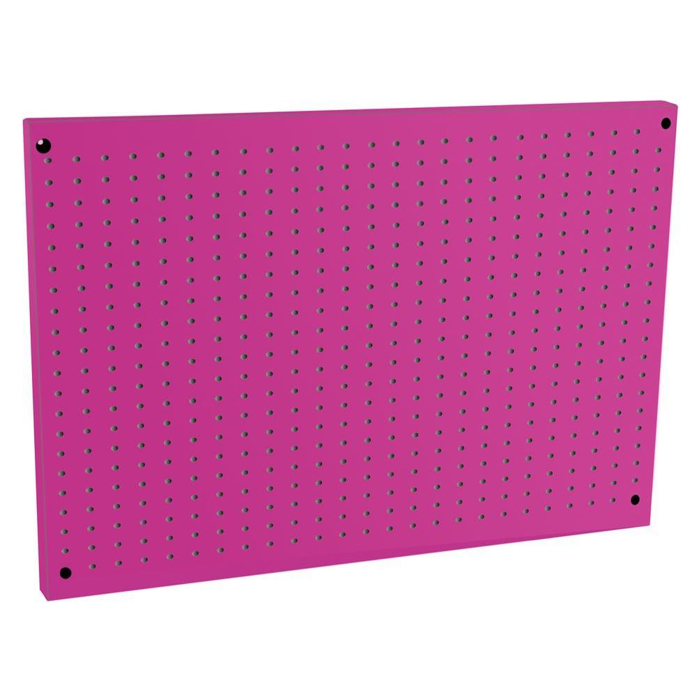 The Original Pink Box 24 in. x 36 in. Pink Steel Peg Board