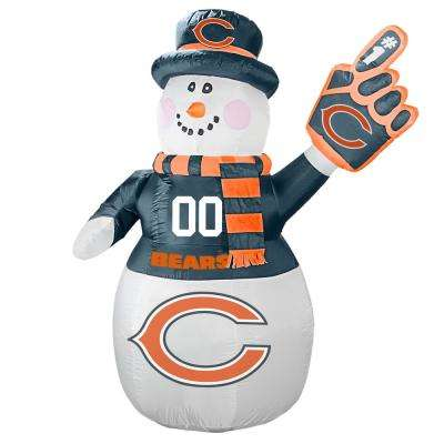 7 ft. Chicago Bears Inflatable Snowman